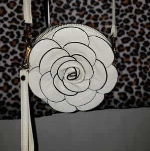 flower Bags - Flower Cross Body Bag With Clutch Handle & Keyring